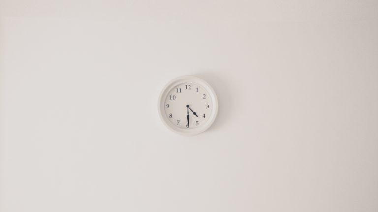 clock on a wall 768x432