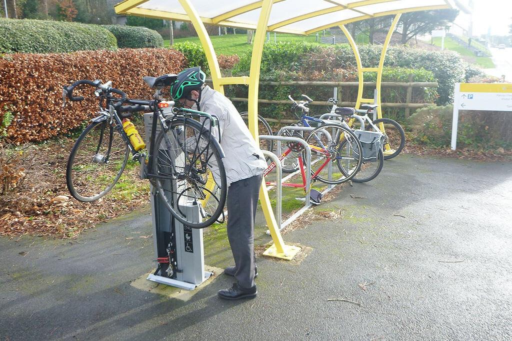 Bike Repair and Pump Facility Kiosk in Ceredigion