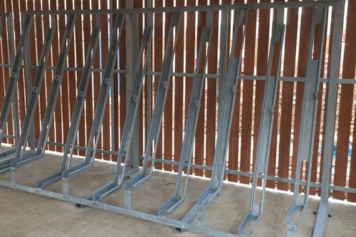 Semi Vertical Cycle Storage Racks for 2 tier Bikes