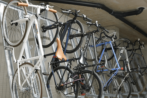 Semi Vertical Bike Stands to accommodate any number of bicycles