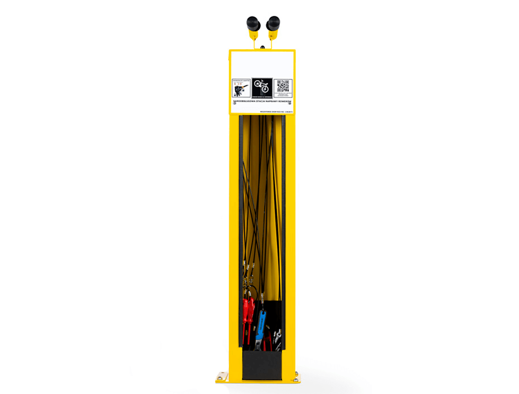 Side on View of Bike Repair Station