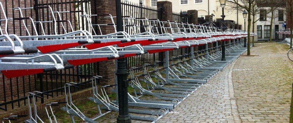 Double height bike storage