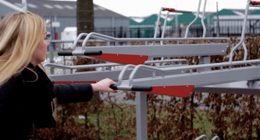 Specifying a two-tier bike rack?