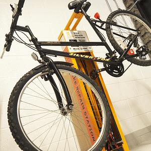 Bike using repair station
