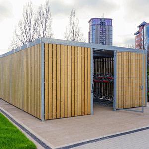 Timber Bike Shelter