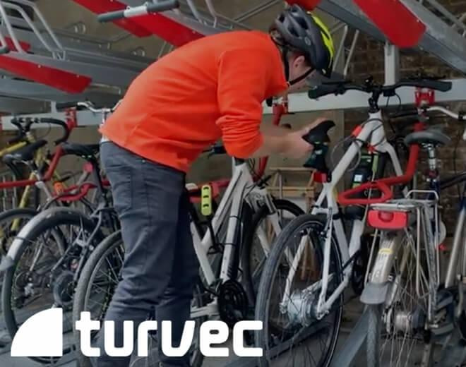 lower tier how to park bike