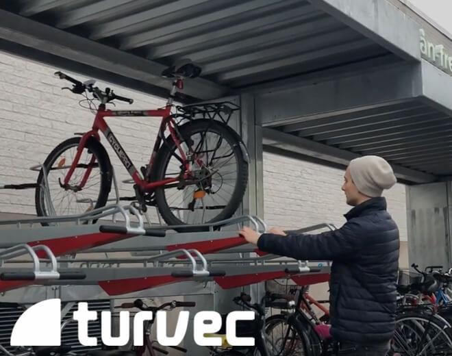 stockholm two tier bike rack