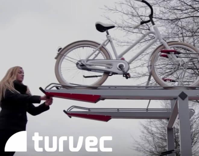 two tier bike rack demo