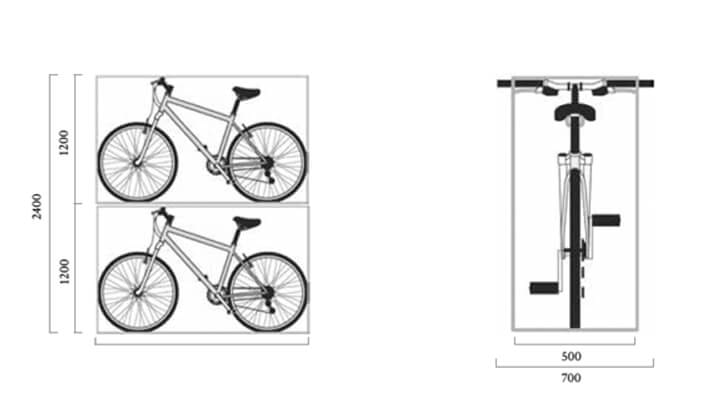 Cycle parking dimensions