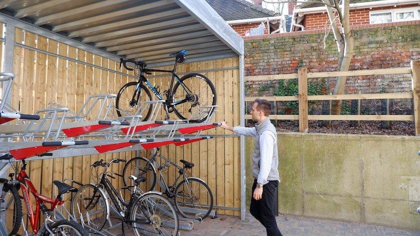How To Use A Two-Tier Bike Rack