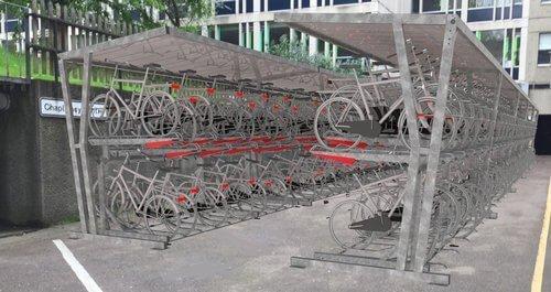 Double Tier bike Rack Installation