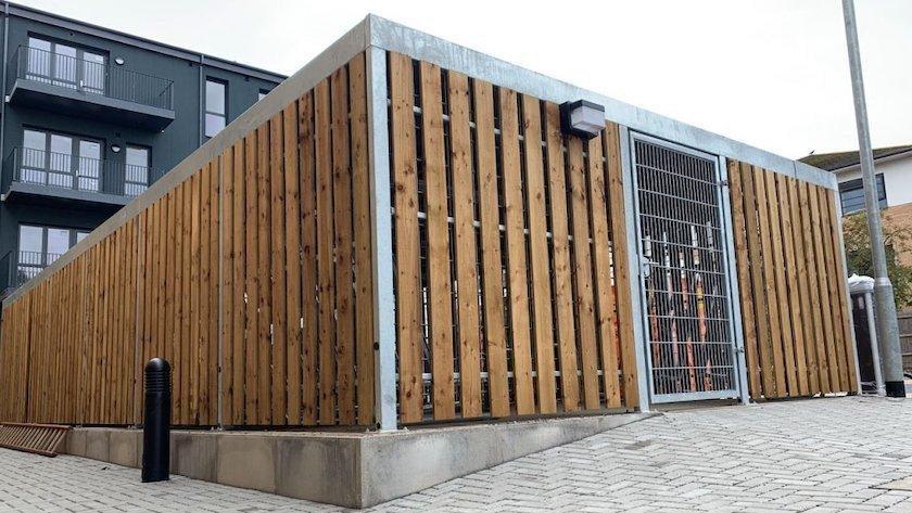 Timber clad cubic feltham image