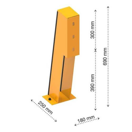 Bike pump wheel chock dimensions