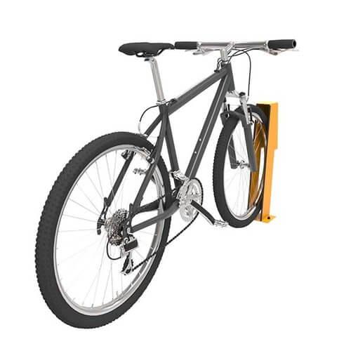bike using a bike chock