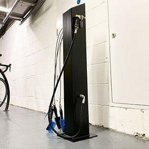 Bike wash stand black
