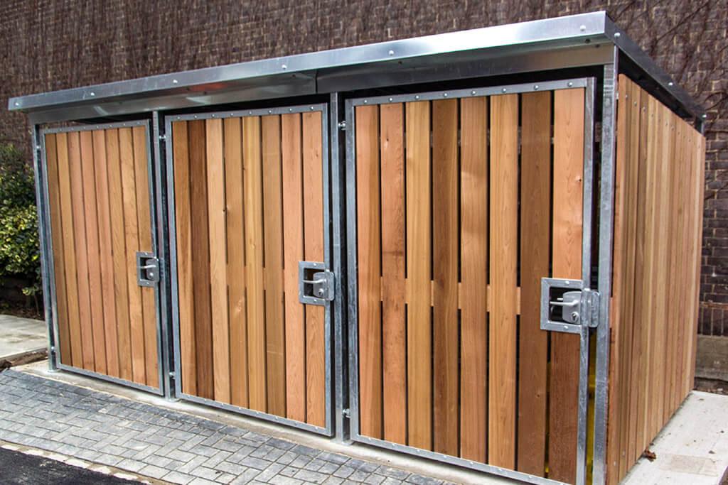 Wooden bike lockers