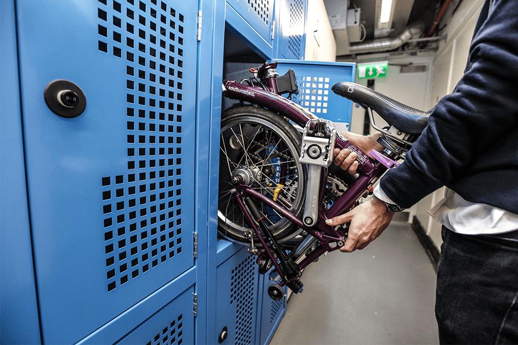 Folding Bike Locker blue