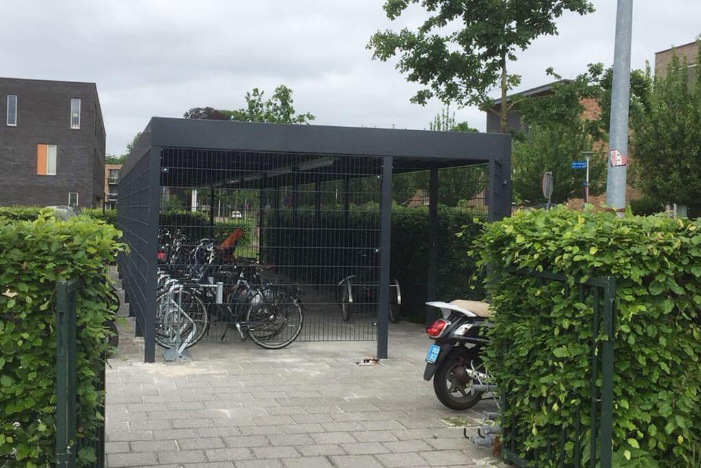 secure mesh two tier bike storage