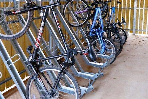 Semi-Vertical Bike Rack image