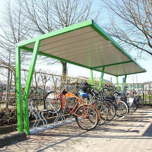 Open bike shelter