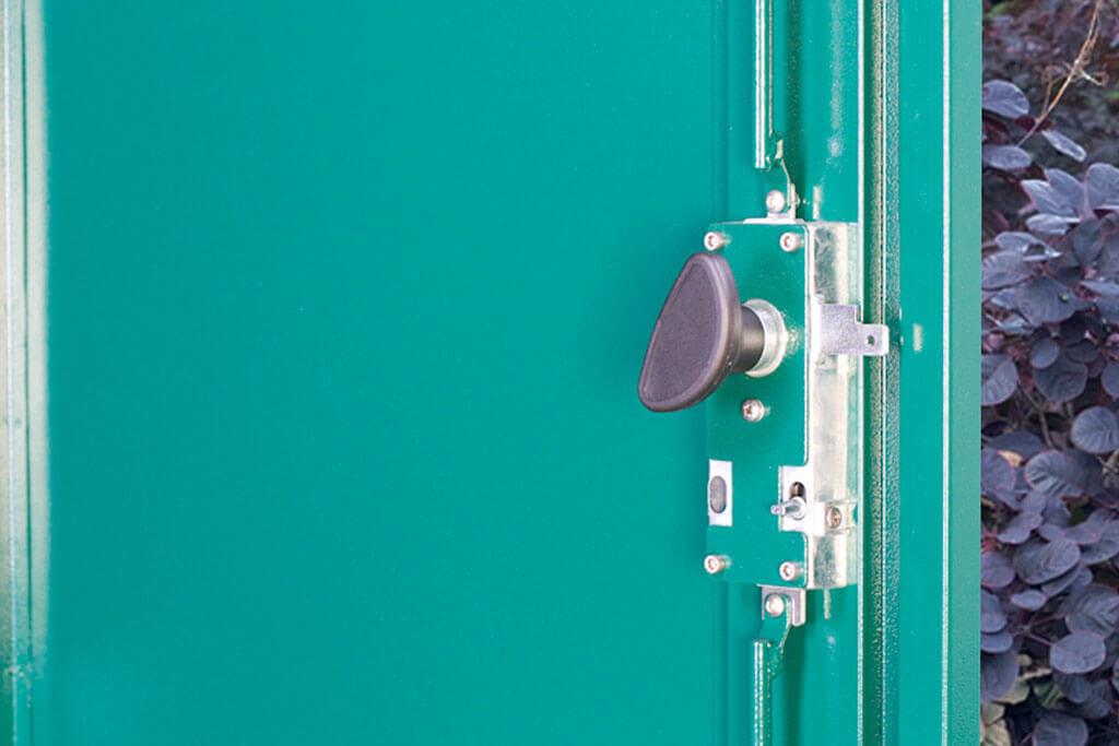Vertical bike locker internal mechanism