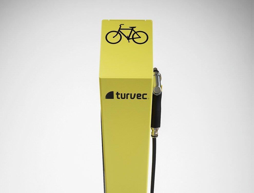 Bike wash stand yellow