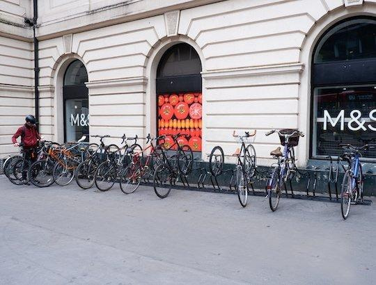 space saving secure bike rack