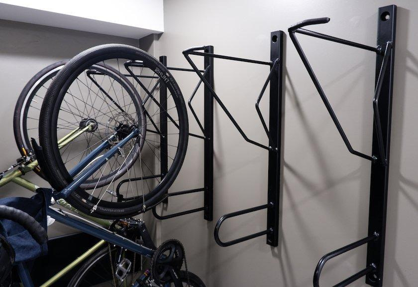 commercial bicycle wall rack