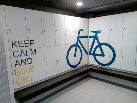 cycling changing bike storage