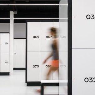 fitness room laminate lockers
