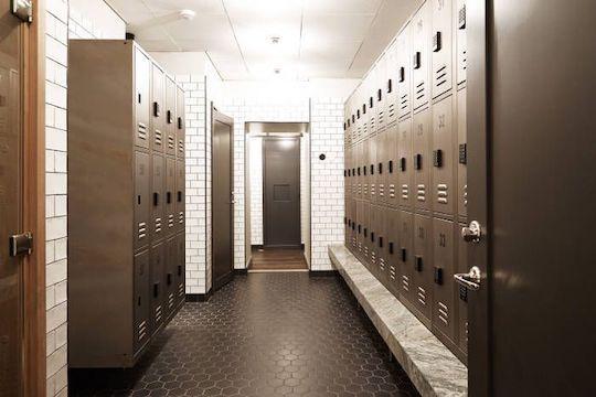 gym changing lockers