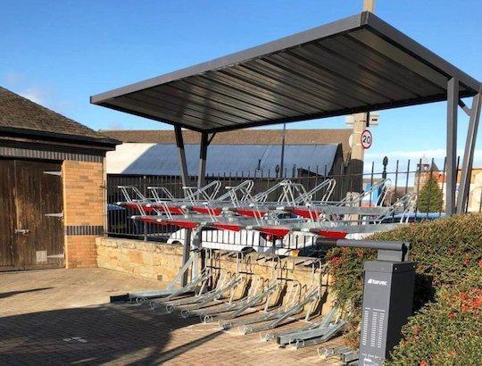office wave bike shelter turvec