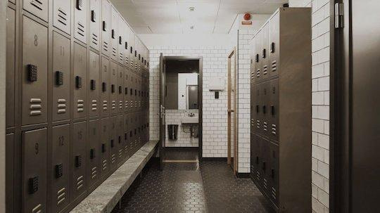 workplace changing lockers