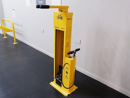 public bike maintenance stand