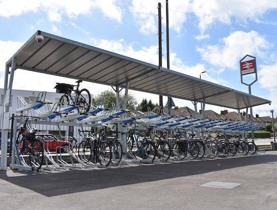 railway bike parking shelter