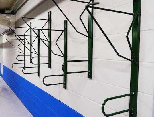 secure vertical wall mounted bike rack