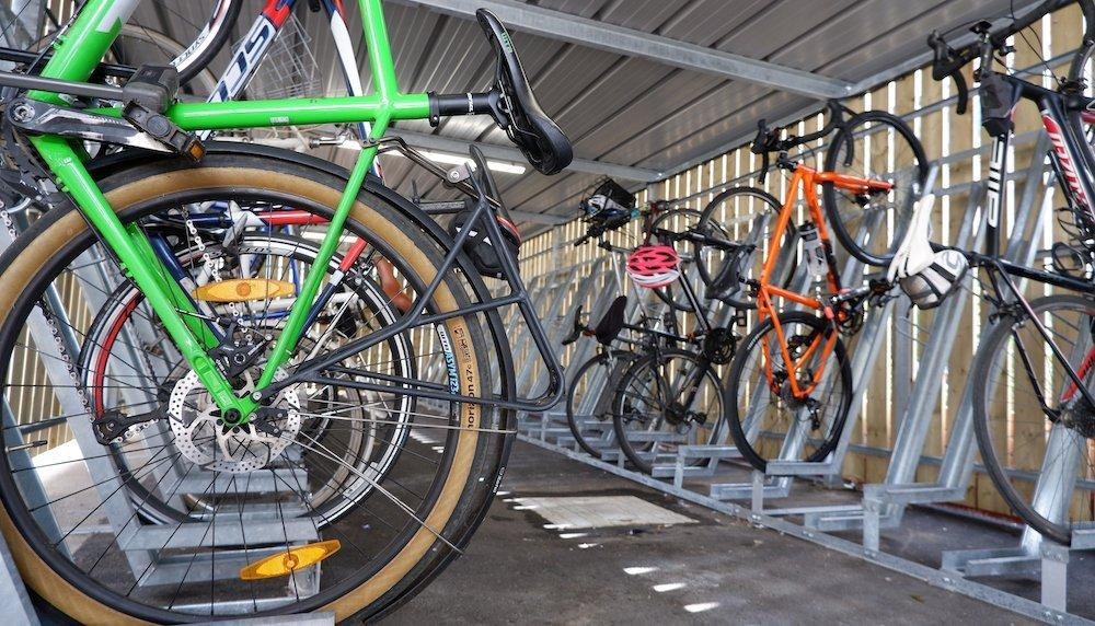 turvec semi vertical bike rack
