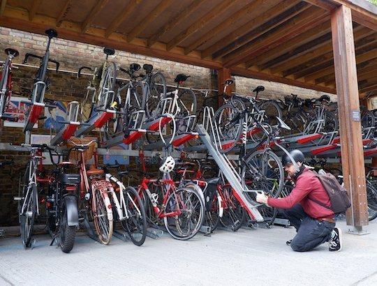 secure two tier bike rack