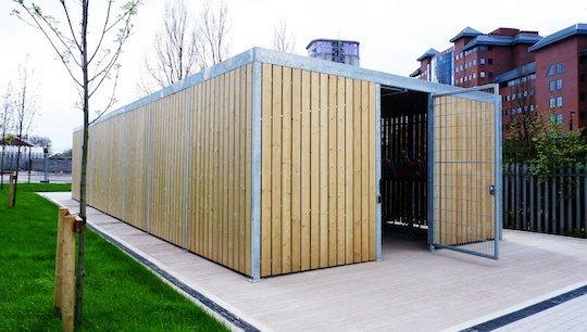 two tier timber bike shelter