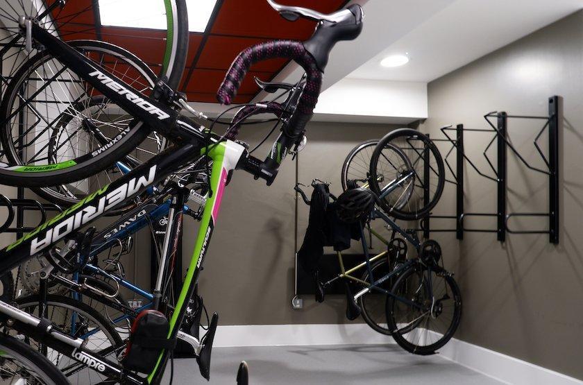wall mounted office bike rack