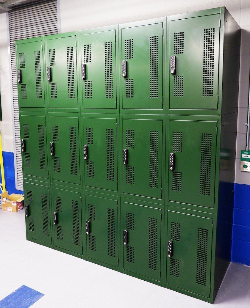 Green bike locker