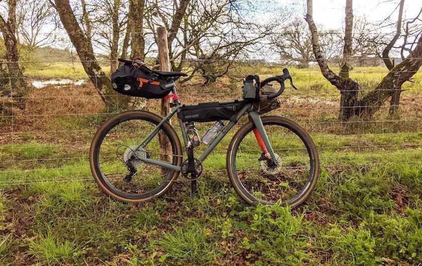 bike in the fields