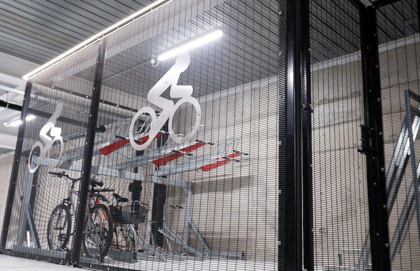 cycle parking caging