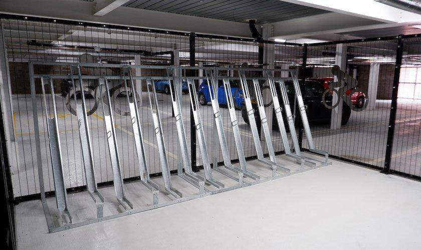 Semi_Vertical Bike Rack Caging